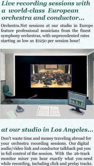 Orchestra.Net sessions at our studio feature professional musicians